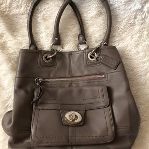 Coach Gray Leather Purse